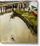 Sunken Fishing Boat Metal Print