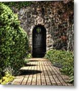 Sunken Garden Doorway Metal Print