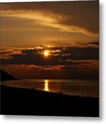Sunken Sunset Metal Print