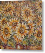 Sunlight Bouquet. Metal Print
