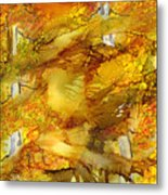 Sunlight Dancing In The Aspen Forest Metal Print