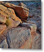 Sunlight Fades Out On Valley Of Fire Metal Print