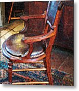 Sunlight On Leather Chair Metal Print