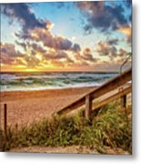 Sunlight On The Sand Metal Print