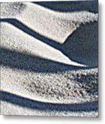 Sunlight Rhythms In Winter Dunes Metal Print