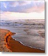 Sunlit Cannon Beach Metal Print