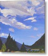 Sunlit Clouds Metal Print
