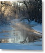 Sunlit Creek  Metal Print
