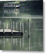 Sunlit Dock Metal Print