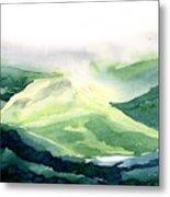 Sunlit Mountain Metal Print