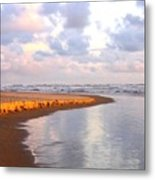Sunlit Shores Metal Print