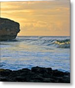 Sunlit Waves - Kauai Dawn Metal Print