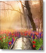 Sunlit Wildflowers Metal Print