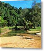 Sunny Beach Tioman Island Metal Print