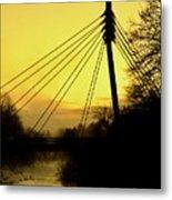 Sunny Bridge Metal Print