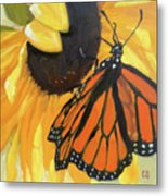 Sunny Butterfly Metal Print