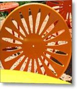 Sunny Chairs 4 Metal Print