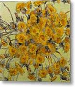 Sunny Dandelions Metal Print