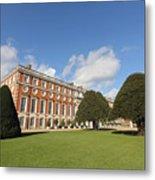 Sunny Day At Hampton Court Palace London Uk Metal Print
