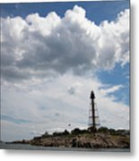 Sunny Day At Marblehead Lighthouse Metal Print