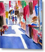 Sunny Day At The Market Metal Print