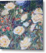 Sunny Day At The Rose Garden Metal Print