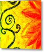 Sunny Day Red Metal Print by Gwyn Newcombe