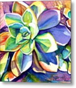 Sunny Day Succulent Metal Print