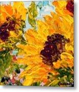 Sunny Day Sunflowers Metal Print