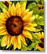 Sunny Floral Metal Print