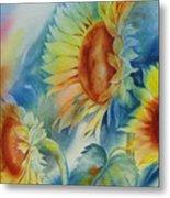 Sunny Flowers I Metal Print