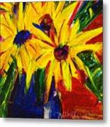 Sunny Flowers Metal Print