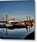 Sunny Morning At Onset Pier Metal Print