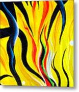 Sunny Morning, Energy. Abstract Art Metal Print