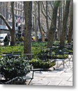 Sunny Morning In The Park Metal Print