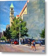 Summer Morning Near St. Michael's Church, Amsterdam Ave. Metal Print