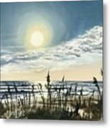 Sunny Morning On Crescent Beach Metal Print