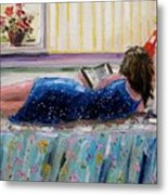 Sunny Reading Metal Print