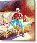 Sunny Retreat 3 Metal Print by Kathy Braud