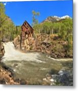 Sunny Skies Over The Crystal Mill Metal Print