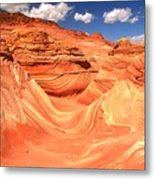 Sunny Skies Over The Wave Metal Print
