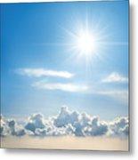 Sunny Sky Metal Print