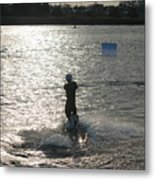 Sunny Waves Metal Print