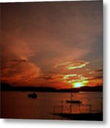 Sunraise Over Lake Metal Print