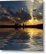 Sunray Sunset Metal Print