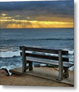 Sunrays On The Horizon Metal Print