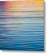 Sunrise Abstract On Calm Waters Metal Print