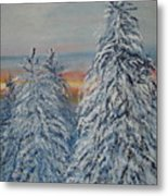 Sunrise After Snow Storm Metal Print