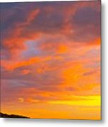 Sunrise And Clouds Over Pigeon Cove Metal Print