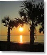 Sunrise And Palms Metal Print